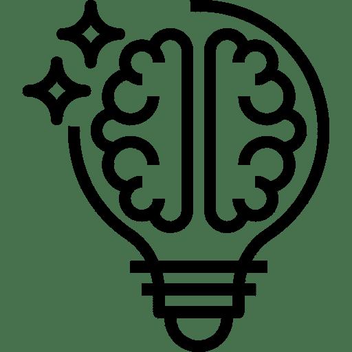 Icône d'une ampoule et d'un cerveau. Illustre : Intégrer la cellule stratégique ou de crise le plus tôt possible
