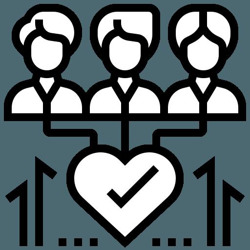 humain et coeur. Illustre la veille stratégique en communication de crise pour les entreprise en difficulté